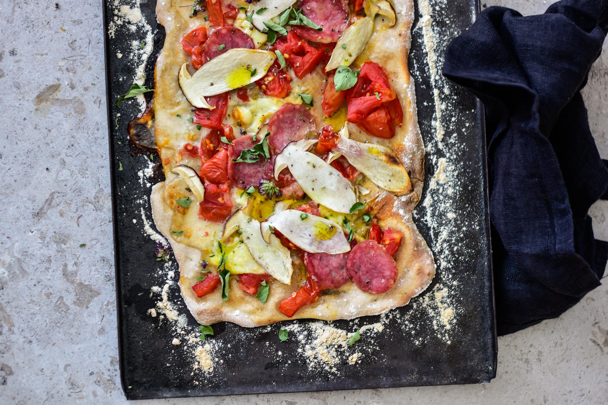 Steinpilz – Pizza mit Dost